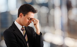 Young stressed businessman Royalty Free Stock Photography