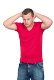 Young Stressed Man Stock Photo