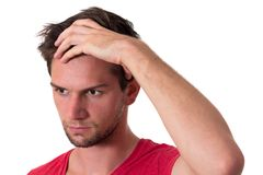Young Stressed Man Royalty Free Stock Photography