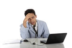 Young stressed Nepalese male doctor Stock Photos