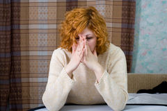 Young stressed woman Stock Images