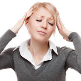 Young  stressful business woman Stock Images
