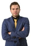 A young strict businessman Royalty Free Stock Photo