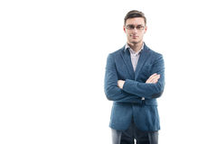 Young strong businessman  in fashionable suit Stock Images