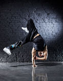 Young strong man break dance Royalty Free Stock Image