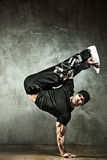 Young strong man break dance Royalty Free Stock Photo