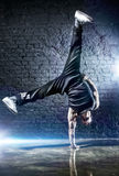 Young strong man break dance Stock Images