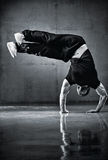 Young strong man break dance Royalty Free Stock Photos