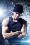 Young strong man portrait Stock Photography
