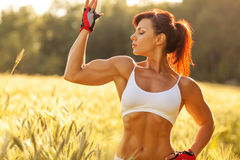 Young strong woman Royalty Free Stock Images