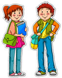 Young student. Male and female students standing next to each other Stock Photo
