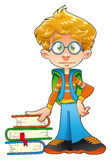 Young student. Vector and cartoon funny character Stock Image