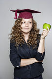 Young student with an apple Stock Photography