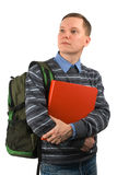 Young student with a backpack Stock Image