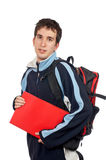 Young student with backpack stock images