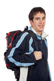 Young student with backpack Royalty Free Stock Photography