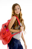 Young student with bag Royalty Free Stock Photography