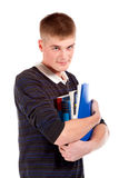 The young student with the book Stock Photos