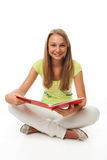 The young student with the book Royalty Free Stock Images