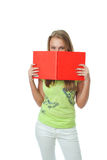 The young student with the book Stock Photography