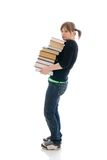 The young student with the book isolated Stock Photo