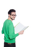 Young student with book Royalty Free Stock Photography