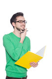 Young student with book Royalty Free Stock Photos