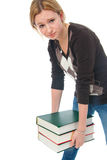 The young student with the books Royalty Free Stock Photography