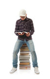 The young student with the books Royalty Free Stock Image