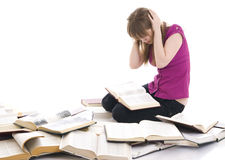 The young student with the books Stock Photos