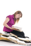 The young student with the books Royalty Free Stock Photo