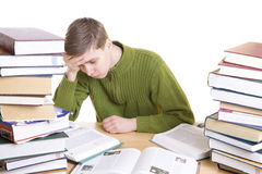 The young student with books Royalty Free Stock Photo