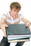 The young student with the books Stock Photography