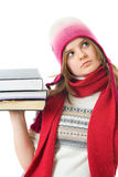 The young student with the books Royalty Free Stock Images
