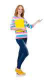 Young student with books Royalty Free Stock Photo