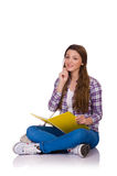 Young student with books  Royalty Free Stock Photos