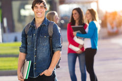 Young student boy looking at the camera Royalty Free Stock Photos