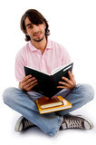 Young student busy in studying stock images