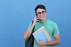 Young student calling by phone Royalty Free Stock Images