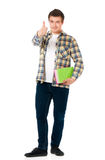 Young student carrying books Stock Photo