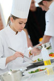 Young student in cooking class Royalty Free Stock Photos