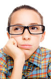 Young student daydreaming Royalty Free Stock Photography