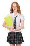 Young student female with textbooks Stock Photos