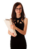 Young student with a folder in her hands Stock Photography