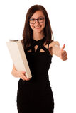Young student with a folder in her hands Royalty Free Stock Images