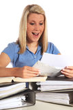 Young student getting good news royalty free stock photos
