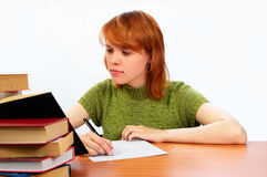 Young student girl Stock Photo