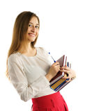 Young student girl with books Stock Image