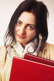 Young Student Girl with Books (Education and self development) Royalty Free Stock Image