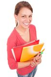 Young student girl with notebooks Stock Photography